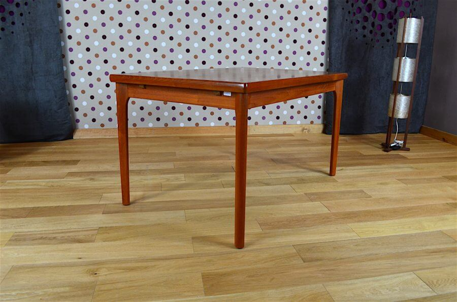 Table design scandinave en teck h kjaernulf vintage 1962 for Table scandinave en teck