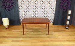 Table Rectangle Danoise en Teck Vintage 1960