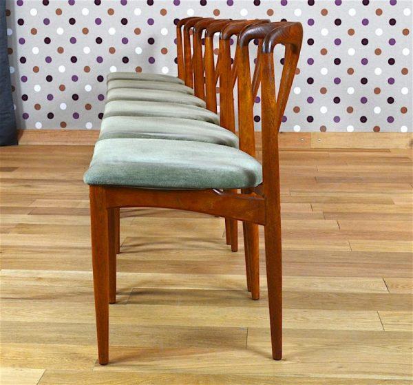 "6 Chaises Danoise en Teck ""Juliane"" J. Andersen Vintage 1960"