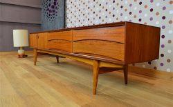 Enfilade Basse Design Scandinave Oswald Vermaercke Vintage 1959