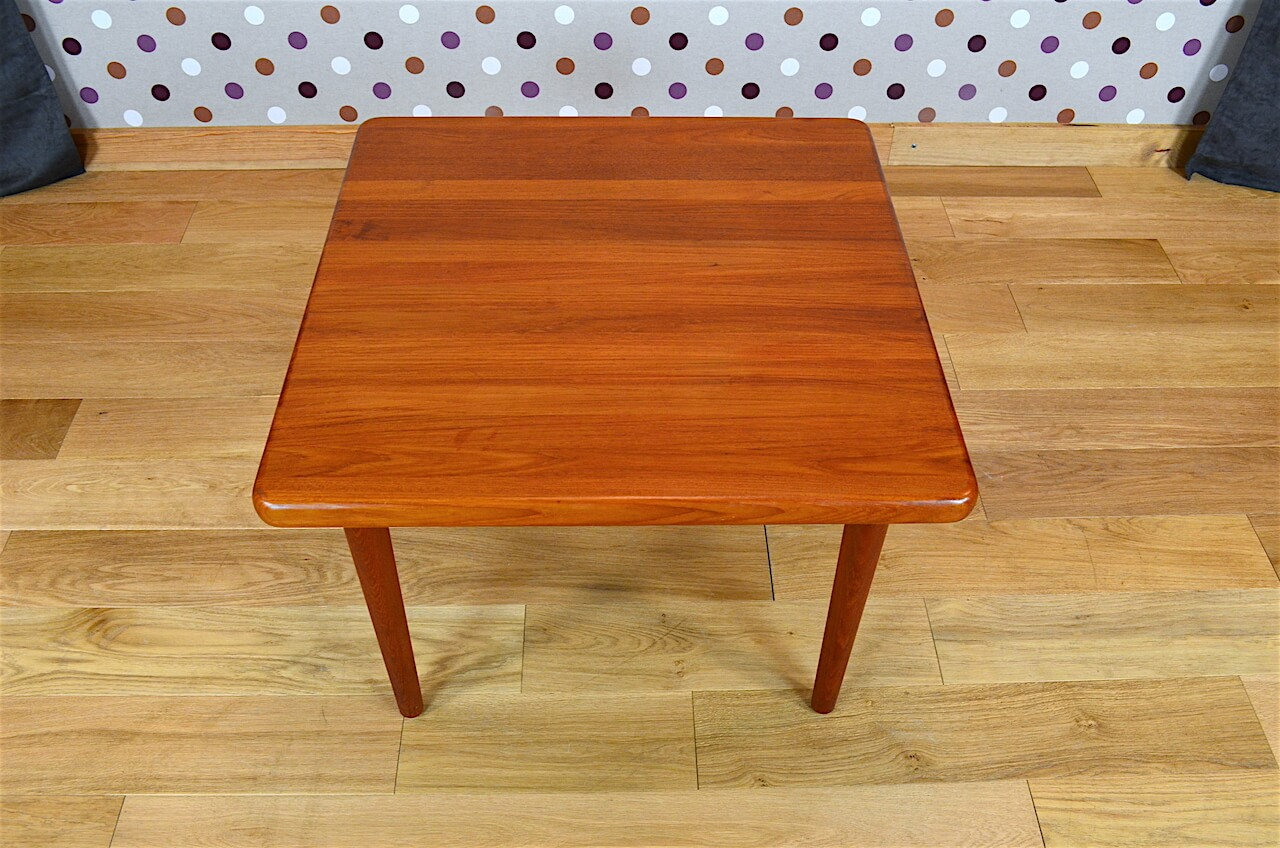 Table basse carr e design scandinave en teck vintage 1965 for Table carree style scandinave