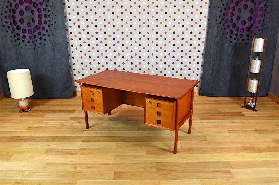 bureau danois en teck arne vodder vintage 1960. Black Bedroom Furniture Sets. Home Design Ideas