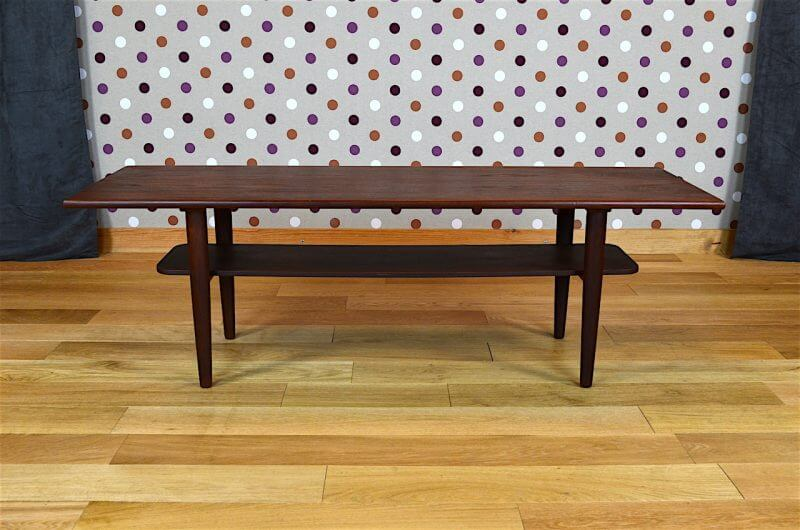 Table Basse Design Scandinave En Teck Samcom Vintage 1960 A1612 Design Vintage Avenue