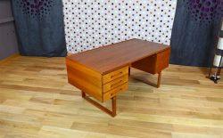 Bureau Mobilier Design Scandinave Danois en Teck Designer Henning Jensen Vintage Années 1950 1960 1970
