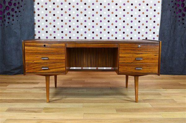 Bureau Design Scandinave en Zébrano Vintage 1960