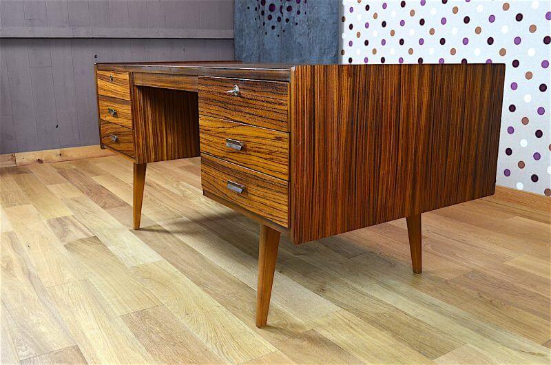 Bureau design scandinave en z brano vintage 1960 for Meuble bureau 1960