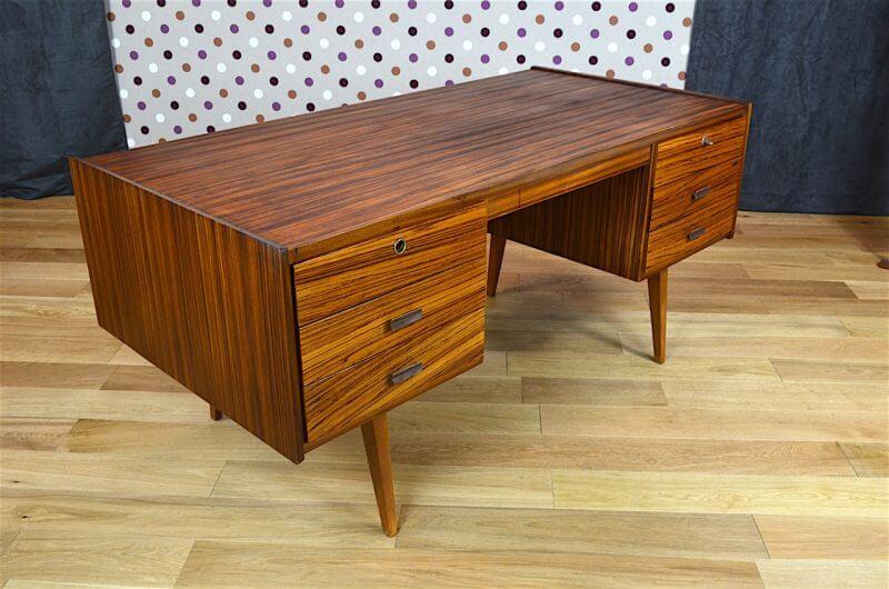 bureau design scandinave en z brano vintage 1960. Black Bedroom Furniture Sets. Home Design Ideas