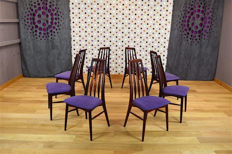 Salle manger designers danois en palissandre de rio for Salle a manger annee 1960