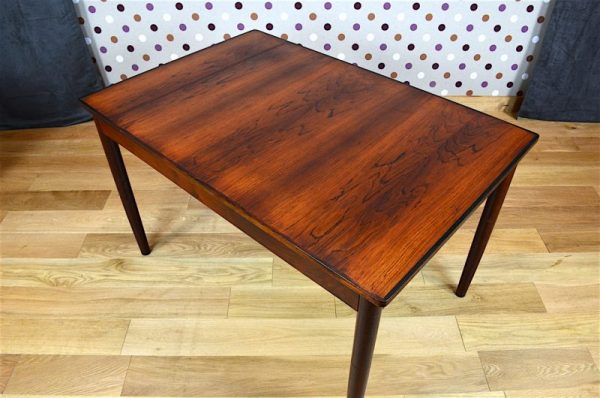Table Design Scandinave en Palissandre de Rio Vintage 1960