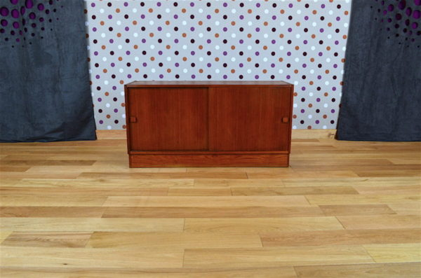 Meuble Bas Design Scandinave en Teck Domino Mobler Vintage 1960