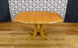 Table Design Scandinave en Chêne Blond Vintage 1970