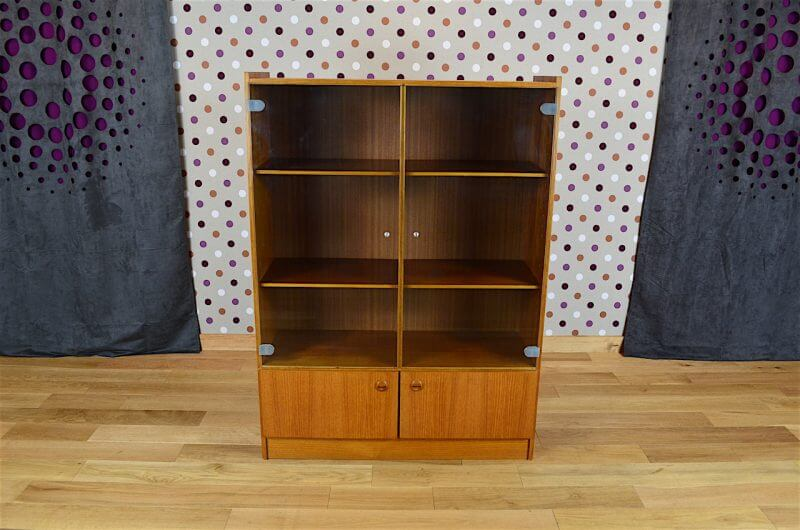 biblioth que vitrine design scandinave en teck vintage 1960 a1830. Black Bedroom Furniture Sets. Home Design Ideas