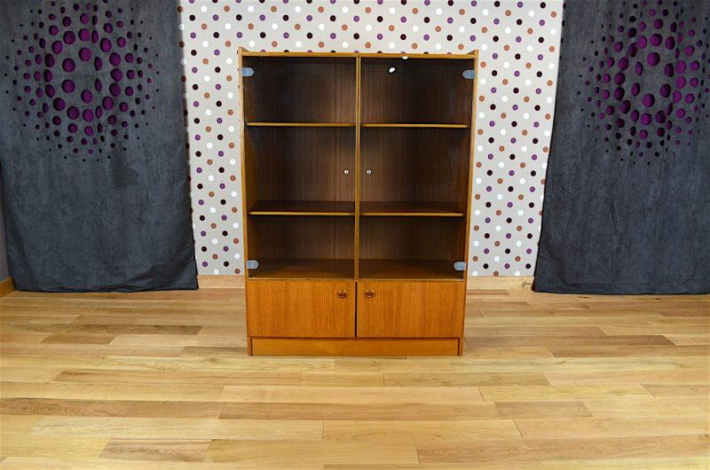 biblioth que vitrine design scandinave en teck vintage 1960. Black Bedroom Furniture Sets. Home Design Ideas