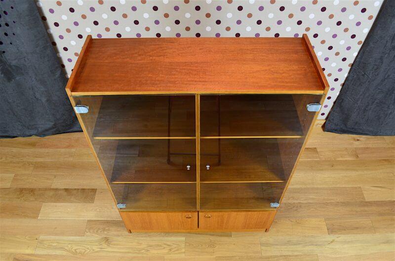 Biblioth Que Vitrine Design Scandinave En Teck Vintage 1960 Design Vintage Avenue
