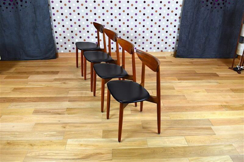 4 chaises danoise en teck harry ostergaard vintage 1960 vendu. Black Bedroom Furniture Sets. Home Design Ideas