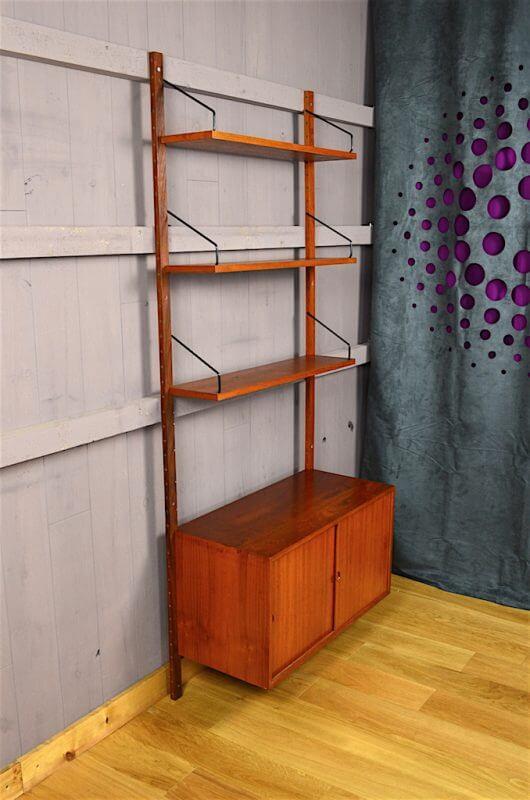 ensemble mural danois en teck royal system p cadovius vintage 1960. Black Bedroom Furniture Sets. Home Design Ideas