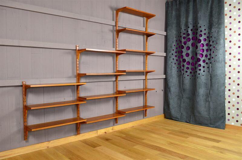 tag re murale scandinave cado en teck p cadovius vintage. Black Bedroom Furniture Sets. Home Design Ideas