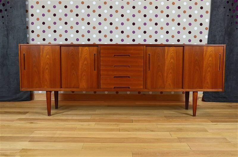 enfilade design scandinave en teck nils jonsson vintage 1960. Black Bedroom Furniture Sets. Home Design Ideas