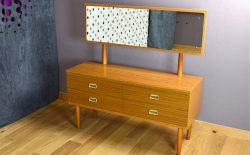 Commode Coiffeuse Design Scandinave Style teck Vintage 1970