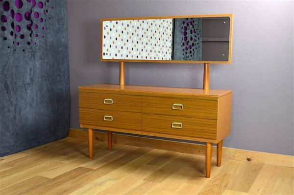 Commode Coiffeuse Design Scandinave Vintage 1970