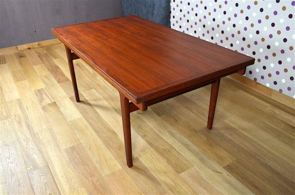 Grande Table Scandinave en Teck Vintage H. Kjaernulf 1965