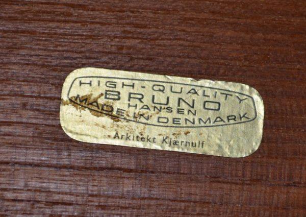 étiquette table vintage teck