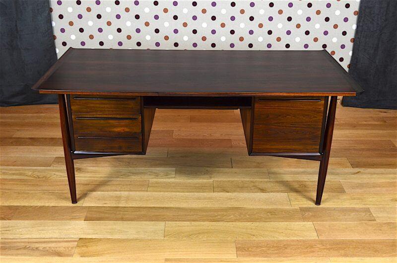 bureau danois en palissandre de rio a vodder vintage 1960. Black Bedroom Furniture Sets. Home Design Ideas