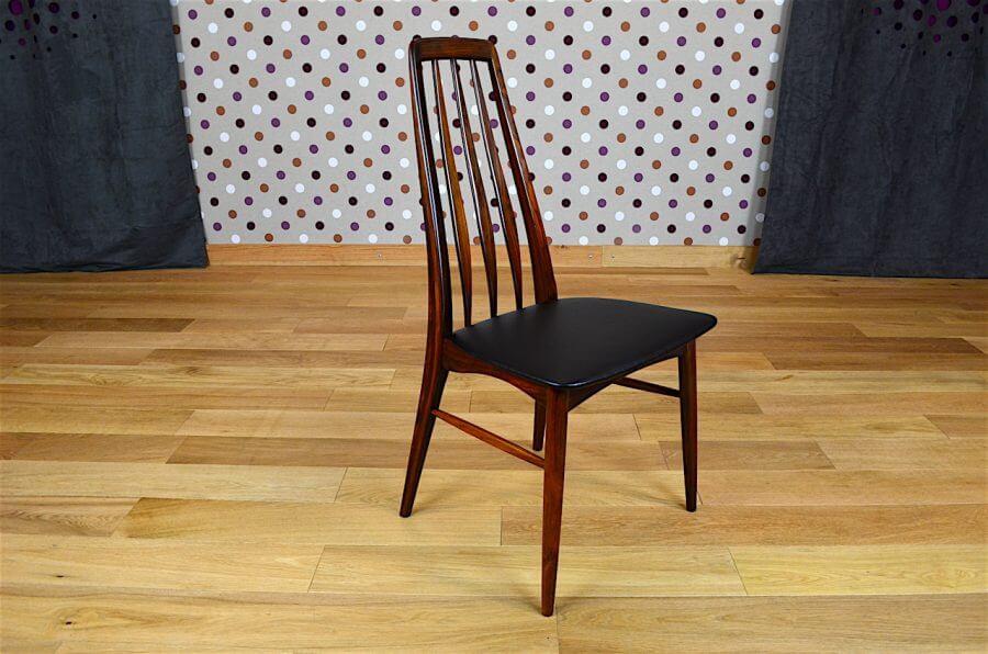 6 chaises danoise en palissandre de rio koefoeds vintage 1965. Black Bedroom Furniture Sets. Home Design Ideas