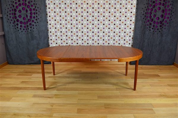 Table Ronde Design Scandinave en Teck Harry Ostergaard Vintage 1962