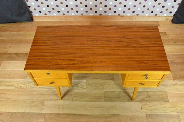 bureau bois clair deco vintage