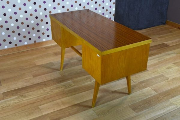 bureau vintage formica bois