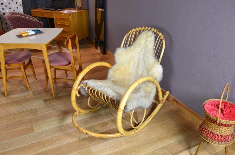 Rocking Chair En Rotin Design Vintage 1960 Design Vintage Avenue