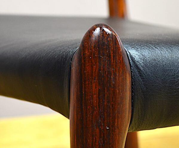 4 chaises danoise en palissandre de rio niels o moller vintage 1962 a1043. Black Bedroom Furniture Sets. Home Design Ideas