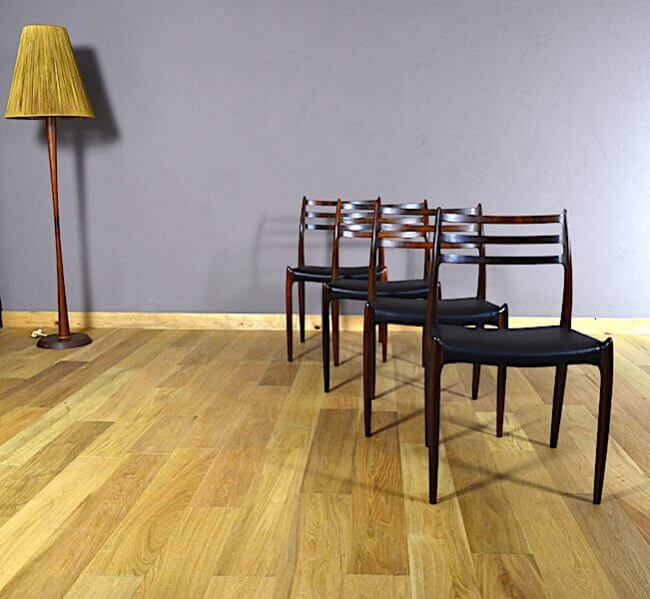 4 chaises danoise en palissandre de rio niels o moller vintage 1962. Black Bedroom Furniture Sets. Home Design Ideas