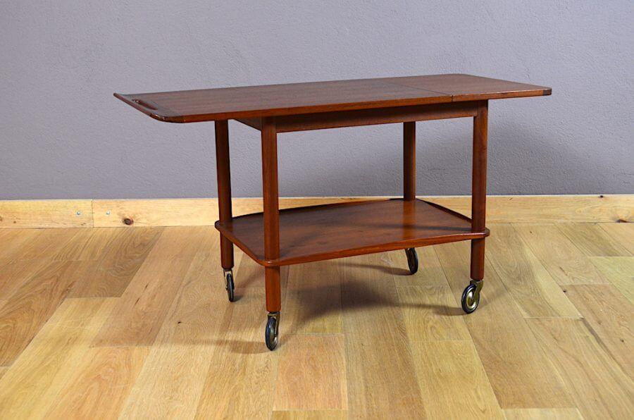 desserte danoise en teck johannes andersen vintage 1960. Black Bedroom Furniture Sets. Home Design Ideas