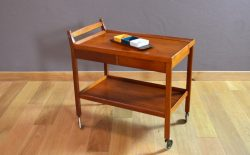 Table Desserte Design Scandinave en Teck Vintage 1960