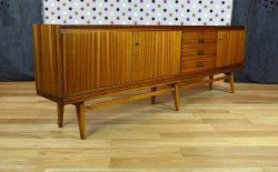 Enfilade Design Scandinave en Zébrano Vintage 1960