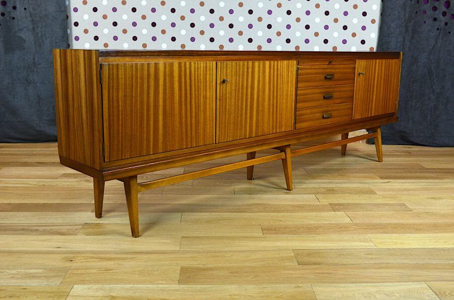 Enfilade design scandinave en z brano vintage 1960 for Meuble zebrano