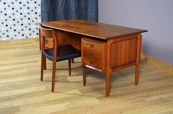 Bureau Danois en Teck Arne Vodder Vintage 1960