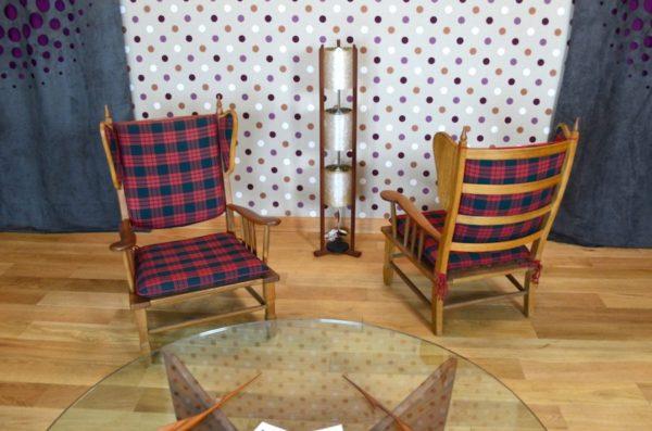 Paire de Fauteuils Design Vintage Rétro Année 1960