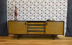 Enfilade Basse Moderniste en Formica Vintage 1960 / 1970