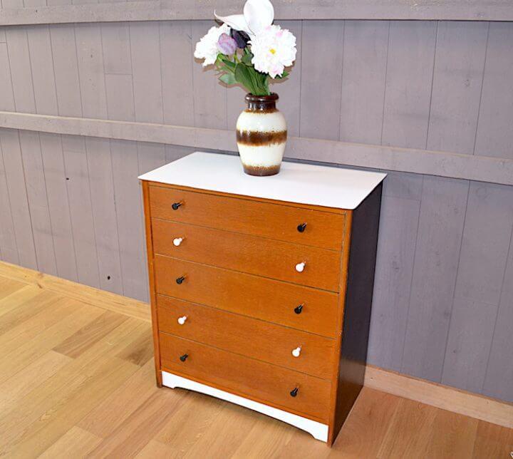 Commode Vintage En Ch Ne Relook E Ann E 1950 A1928 Design Vintage Avenue