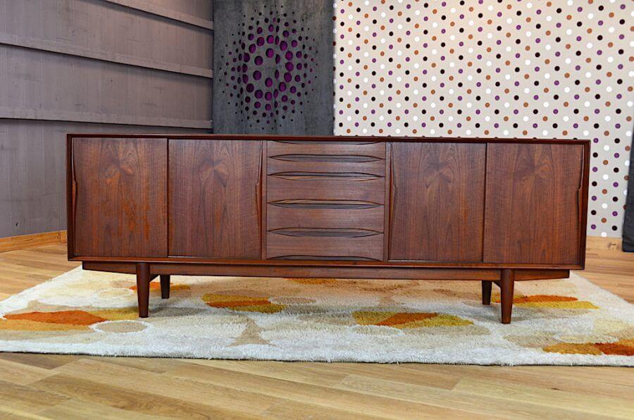 enfilade danoise arne vodder editeur dyrlund vintage 1960. Black Bedroom Furniture Sets. Home Design Ideas