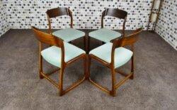 4 Chaises Baumann Design Scandinave Vintage Rétro 1960