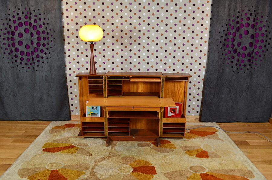 bureau malle magic box design scandinave vintage 1960. Black Bedroom Furniture Sets. Home Design Ideas