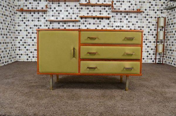 Commode Design Français Roger Landault Vintage 1960