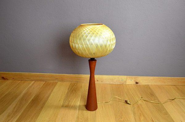 Lampe Danoise en Teck Editeur Esa Vintage 1960