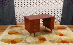 Bureau Vintage Style Acajou Année 1960