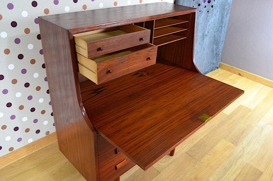 secr taire danois en teck de borge mogensen diteur soborg mobler. Black Bedroom Furniture Sets. Home Design Ideas