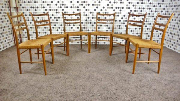 6 Chaises Scandinave de Yngve Ekström Vintage 1956
